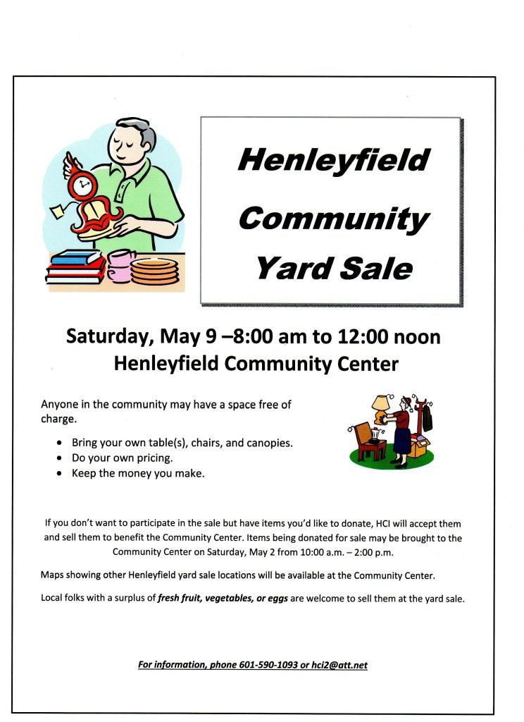 HCI yard sale